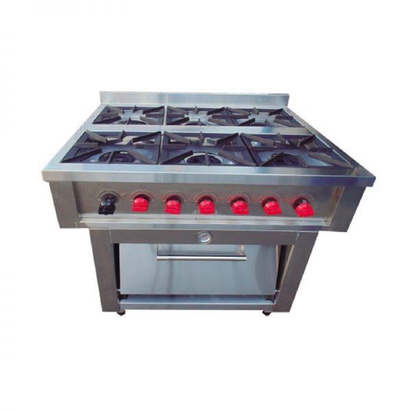 Cocina 6 Platos con Horno VCG-6P / VCG-6PAI