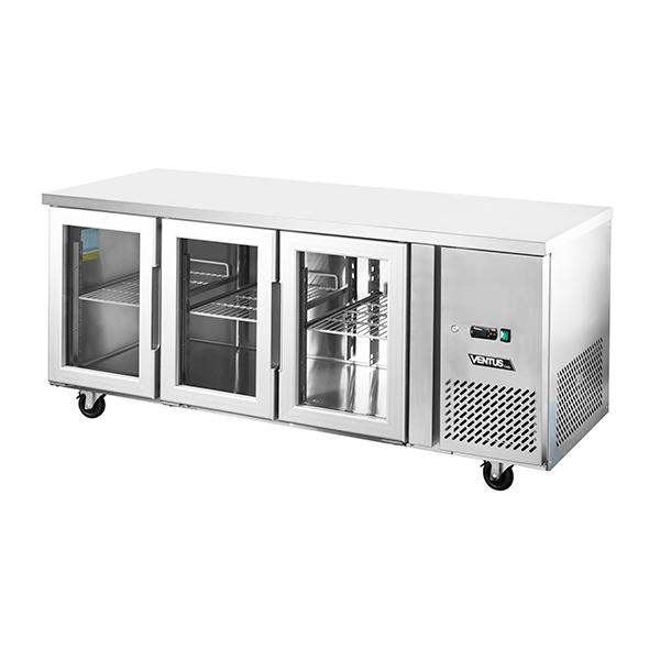 Mesón Refrigerado Puertas de Vidrio 420 Litros VMR3PS-420V - Ventus