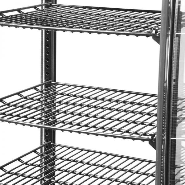 Vitrina Pastelera Vertical Sobremesa Negra VERT-98L