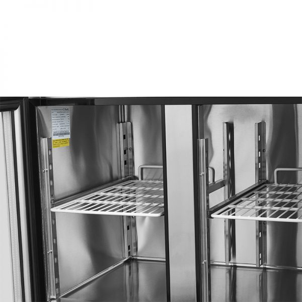Mesón Refrigerado Puertas de Vidrio 280 Litros VMR2PS-280V