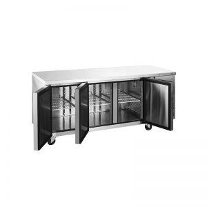 Mesón Refrigerado Puertas de Vidrio 420 Litros VMR3PS-420V