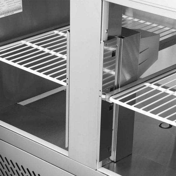 Mesón Saladette 2 Puertas Cubierta Acero Inox. VMRSL-370