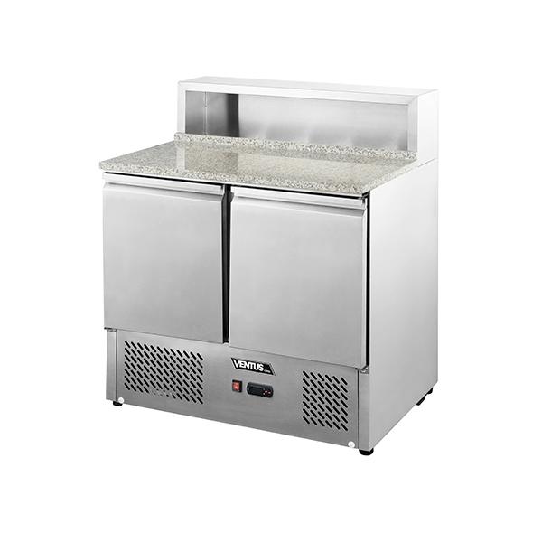 Mesón Saladette 2 Ptas. Cubierta Mármol c/Acero VMRSL-360 - Ventus